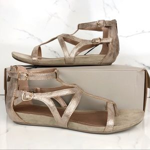 Kenneth Cole • Rose Gold Metallic Leather Sandals